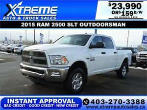 2015 RAM 2500 SLT OUTDOORSMAN *INSTANT APPROVAL $0 DOWN $159/BW!