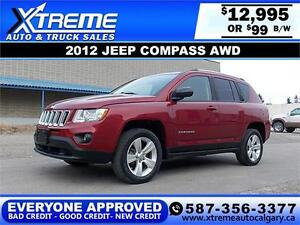 2012 Jeep Compass North $99 bi-weekly APPLY NOW DRIVE NOW