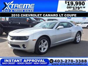 2010 CHEVROLET CAMARO $179 bi-weekly APPLY NOW DRIVE NOW