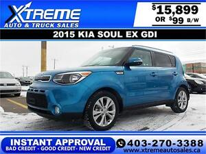 2015 KIA SOUL EX $99 BI-WEEKLY APPLY NOW DRIVE NOW