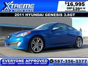 2011 Hyundai Genesis Coupe $139 bi-weekly APPLY NOW DRIVE NOW