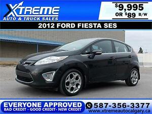 2012 Ford Fiesta SES $89 BI-WEEKLY APPLY NOW DRIVE NOW