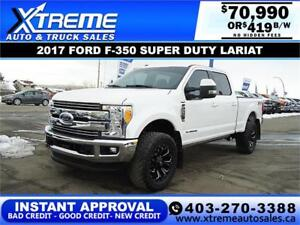2017 FORD F-350 SUPER DUTY LARIAT *INSTANT APPROVAL $419/BW!