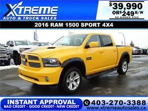 2016 RAM 1500 SPORT SPECIAL EDITION * $0 DOWN $249/BW!