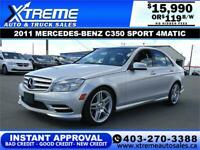 2011 MERCEDES-BENZ C350 $0 DOWN $119 B/W APPLY NOW DRIVE NOW Calgary Alberta Preview