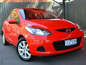 2008 Mazda 2 DE10Y1 Neo Red 4 Speed Automatic Hatchback Fawkner Moreland Area Preview