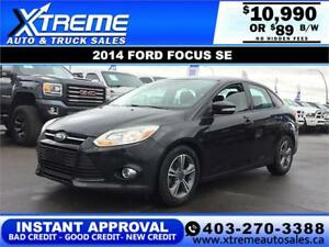 2014 FORD FOCUS SE $0 DOWN $89 B/W APPLY NOW DRIVE NOW