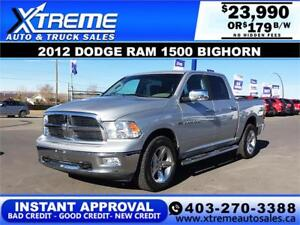 2012 DODGE RAM 1500 BIGHORN *INSTANT APPROVAL* $0 DOWN $179/BW!