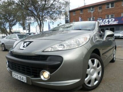 2007 Peugeot 207 CC 1.6 Grey 5 Speed Manual Cabriolet Granville Parramatta Area Preview