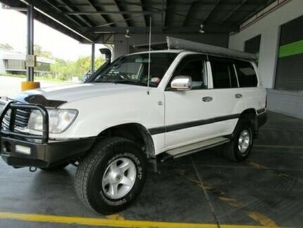1999 Toyota Landcruiser FZJ105R GXL White 4 Speed Automatic Wagon Archerfield Brisbane South West Preview
