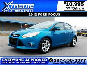 2012 Ford Focus SE $79 bi-weekly APPLY NOW DRIVE NOW