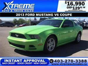 2013 FORD MUSTANG V6 COUPE $129 BI-WEEKLY *$0 DOWN APPLY NOW