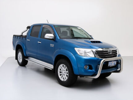 2013 Toyota Hilux KUN26R MY12 SR5 (4x4) Blue 5 Speed Manual Dual Cab Pick-up Jandakot Cockburn Area Preview