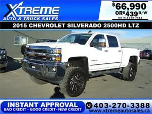 2015 CHEVY SILVERADO 2500HD LIFTED *INSTANT APPROVAL $439/BW!