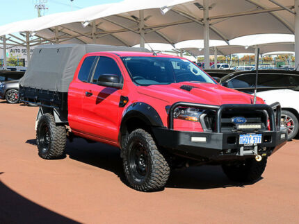 2016 Ford Ranger PX MkII XL 3.2 (4x4) Red 6 Speed Manual Super Cab Chassis Jandakot Cockburn Area Preview