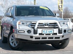 2012 Toyota Kluger GSU40R MY12 KX-R 2WD Silver Pearl 5 Speed Sports Automatic Wagon Pearce Woden Valley Preview