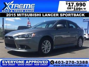 2015 Mitsubishi Lancer Sportback $109 B/W APPLY NOW DRIVE NOW