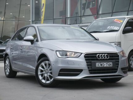 2014 Audi A3 8V MY15 Attraction Sportback S tronic Silver 7 Speed Sports Automatic Dual Clutch