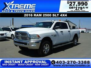 2016 RAM 2500 SLT CREW CAB *INSTANT APPROVAL* $0 DOWN $179/BW!