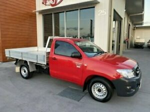 2011 Toyota Hilux TGN16R Workmate Red Manual Utility Bells Creek Caloundra Area Preview