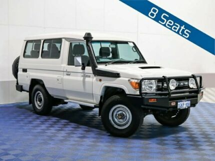 2015 Toyota Landcruiser VDJ78R MY12 Update GXL (4x4) White 5 Speed Manual TroopCarrier