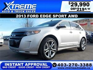 2013 Ford Edge SPORT AWD $219 BI-WEEKLY APPLY NOW DRIVE NOW