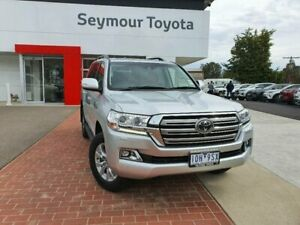 2018 Toyota Landcruiser VDJ200R MY19 LC200 Sahara (4x4) Silver Pearl 6 Speed Automatic Wagon Seymour Mitchell Area Preview