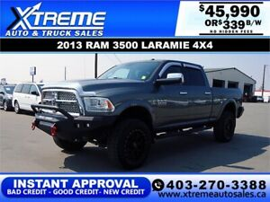 2013 RAM 3500 LARAMIE LIFTED *INSTANT APPROVAL* $0 DOWN $339/BW!