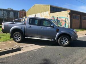 2010 Ford Ranger PK XLT (4x4) Silver 5 Speed Automatic Dual Cab Pick-up Moorabbin Kingston Area Preview