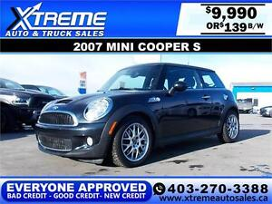 2007 Mini Cooper S $139 BIWEEKLY APPLY NOW DRIVE NOW