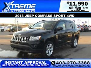 2013 JEEP COMPASS SPORT 4WD $89 BI-WEEKLY APPLY NOW DRIVE NOW