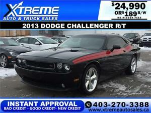 2013 DODGE CHALLENGER R/T $189 BI-WEEKLY *INSTANT APPROVAL*