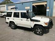 2012 Toyota Landcruiser VDJ76R MY10 Workmate White Wagon Caloundra West Caloundra Area Preview