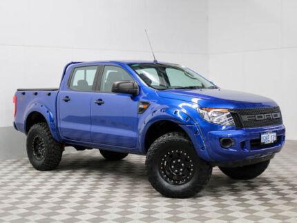 2015 Ford Ranger PX XL 3.2 (4x4) Blue 6 Speed Automatic Dual Cab Utility