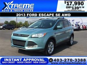 2013 FORD ESCAPE SE AWD $139 BI-WEEKLY APPLY NOW DRIVE NOW