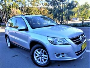 2010 Volkswagen Tiguan 5N MY10 103TDI 4MOTION Silver 6 Speed Sports Automatic Wagon Five Dock Canada Bay Area Preview