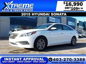 2015 Hyundai Sonata $109 bi-weekly APPLY NOW DRIVE NOW
