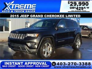 2015 Jeep Grand Cherokee Limited $209 b/w APPLY NOW DRIVE NOW