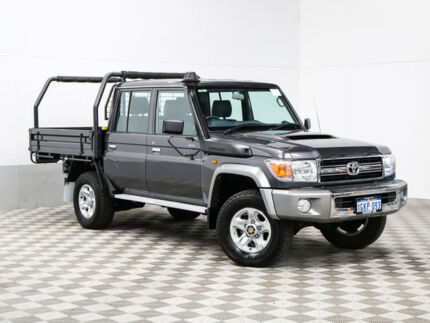 2015 Toyota Landcruiser VDJ79R MY12 Update GXL (4x4) Grey 5 Speed Manual Double Cab Chassis