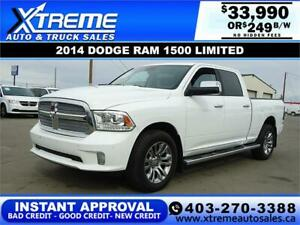 2014 RAM 1500 LIMITED EDITION *INSTANT APPROVAL* $249/BW $0 DOWN
