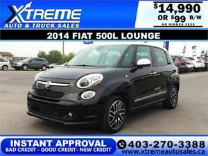 2014 FIAT 500L LOUNGE $99 bi-weekly APPLY NOW DRIVE NOW