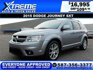 2015 Dodge Journey SXT $109 BI-WEEKLY APPLY NOW DRIVE NOW