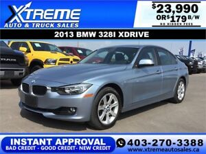 2013 BMW 328I XDRIVE $189 BI-WEEKLY APPLY NOW DRIVE NOW