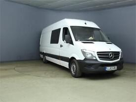 2014 MERCEDES SPRINTER 313 CDI LWB DOUBLE CAB 6 SEAT CREW VAN HIGH ROOF COMBI VA