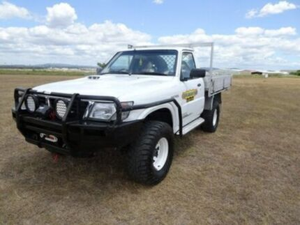 2001 Nissan Patrol GU DX White 5 Speed Manual Cab Chassis Archerfield Brisbane South West Preview