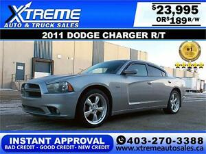 2011 Dodge Charger R/T HEMI $189 bi-weekly APPLY NOW DRIVE NOW