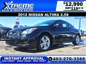 2012 Nissan Altima 2.5S Coupe $119 bi-weekly APPLY NOW DRIVE NOW