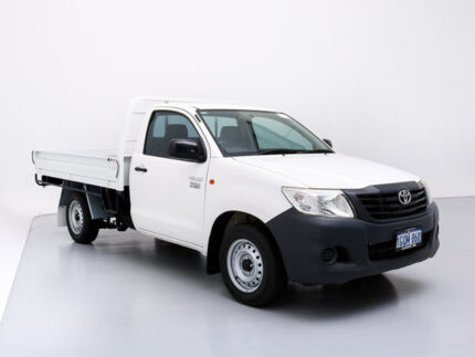 2012 Toyota Hilux TGN16R MY12 Workmate White 5 Speed Manual Cab Chassis Jandakot Cockburn Area Preview