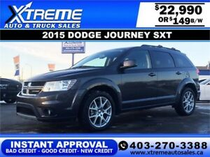 2015 Dodge Journey SXT $149 BI-WEEKLY APPLY NOW DRIVE NOW