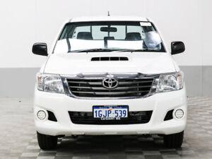 2013 Toyota Hilux KUN16R MY12 SR White 5 Speed Manual